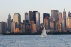 Horizon du centre de Manhattan Photos libres de droits