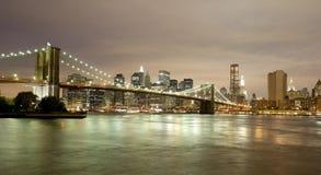 Horizon du centre de Manhattan Image stock