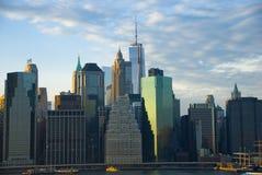 Horizon du centre de New York City Image libre de droits