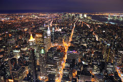 Horizon du centre de New York City Manhattan Photos stock