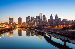 Horizon du centre de Philadelphie, Pennsylvanie. image libre de droits