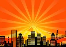 Horizon du centre de ville de Portland Orégon illustration de vecteur