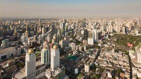 Horizon du centre de vue aérienne de ville de Bangkok Photographie stock libre de droits