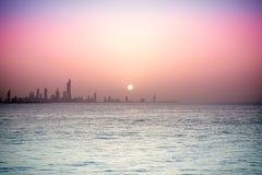 Horizon du Kowéit Photographie stock
