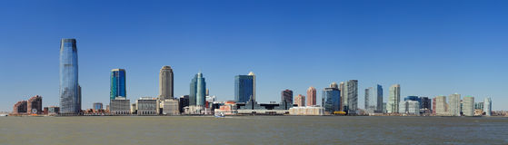 Horizon du New Jersey de New York City Manhattan Image libre de droits