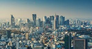 Horizon du paysage urbain de Tokyo au coucher du soleil Image libre de droits