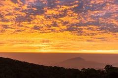 Horizon. Emerged from skyline sunrise golden shine Stock Photography