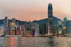 Horizon en de Haven van Victoria in Hongkong Royalty-vrije Stock Fotografie