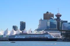 horizon en oriëntatiepunt van Vancouver stock afbeelding