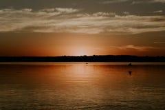 Horizon en rivière 2 Images libres de droits