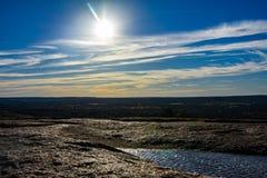 Horizon enchanté de roche photographie stock