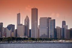 Horizon est de Chicago image libre de droits