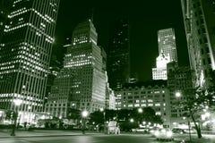 Horizon et Central Park de Manhattan la nuit images libres de droits