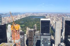 Horizon et Central Park de New York City photographie stock libre de droits