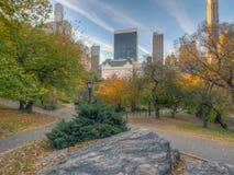 Horizon et Central Park de New York City en automne photographie stock