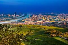 Horizon et Danube de Vienne Vienne, Autriche images stock