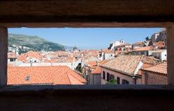 Horizon et dessus de toit de Dubrovnik, Croatie Photo stock