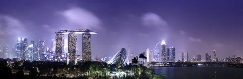 Horizon et paysage urbain de Singapour Photo libre de droits