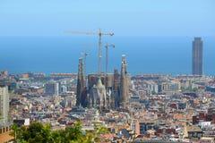 Horizon et Sagrada Familia, Espagne de Barcelone Images stock