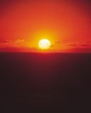 Horizon et Sun Image libre de droits
