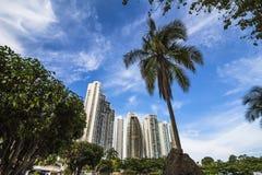Horizon financier de secteur de Panamá City Images stock