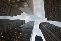 Horizon financier du centre de district de New York Photographie stock