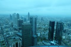 Horizon financier global de secteur de Francfort photos stock