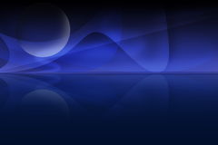 Horizon fractal. Fractal rendering resembling a horizon Stock Photo