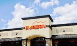 Horizon Gas Station and Convenience Store Stock Photos
