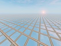 Horizon Grid Perspective Royalty Free Stock Images