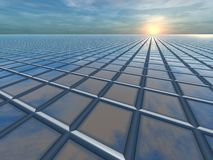 Horizon Grid Perspective Royalty Free Stock Photo