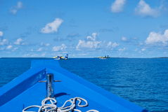 Horizon of Indian ocean in Maldives Stock Photography