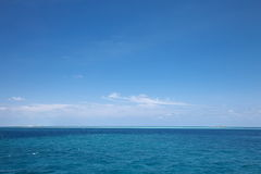Horizon of Indian ocean in Maldives Stock Photos