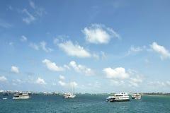 Horizon of Indian ocean in Maldives Stock Image