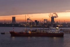 Horizon industriel - coque - l'Angleterre image libre de droits
