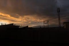 Horizon irakien de coucher du soleil Photo stock