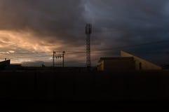 Horizon irakien de coucher du soleil Photographie stock