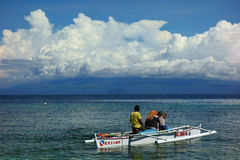 On the horizon island of Mindanao Stock Photo