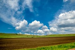 Horizons of Khakasia. Horizon, Khakasia, clouds royalty free stock photos
