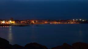 Horizon la nuit Images libres de droits