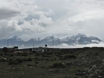 Horizon landscape with clouds and snow on mountain. Arequipa, Peru Royalty Free Stock Photo