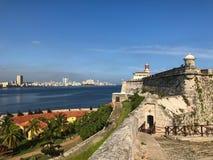 Horizon le lendemain de château et de Cubain Image libre de droits
