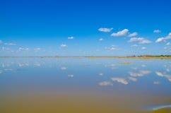 Horizon (ligne terrestre) de marécage Image libre de droits