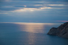 The Horizon in the Ligurian Sea. In the area of Cinque Terre in Italy Royalty Free Stock Photography