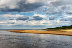 The horizon line on the beach of the Baltic Sea Royalty Free Stock Photo