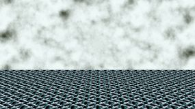 The horizon line. Clouds in the sky. Geometric pattern Stock Image