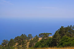 The horizon line. The horizon line between sea and sky Royalty Free Stock Photo
