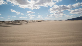 Horizon of a lonely desert at noon Royalty Free Stock Photo