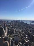 Horizon Manhattan de New York City Photos libres de droits