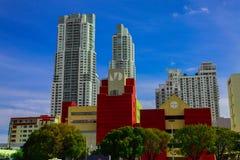 Horizon Miami Van de binnenstad Stock Afbeeldingen